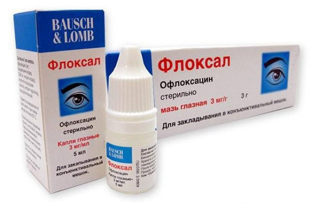 Eye drops and ointment Floksal